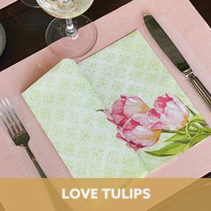 Duni Love Tulips
