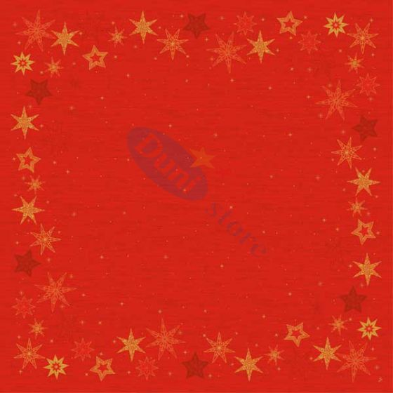 Napperons dunicel 84x84cm Star Stories Red