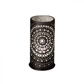 LED Candle holder metal 140x75mm billy zwart