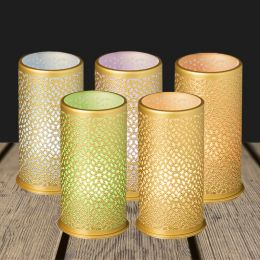 LED Candle holder metal 140x75mm billy bliss gold