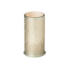 LED Candle holder metal 140x75mm billy bliss silver