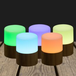 LED Candle holder 105x75mm Bamboo Bright