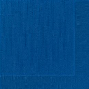 Servetten tissue 40cm 4-laags 1/4 vouw embossed donkerblauw