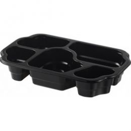 Take-Away Tray 5 vaks 85+115+180+270+290ml zwart
