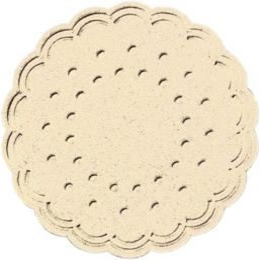 Onderzetters tissue Ø 7,5 cm - 8 laags cream