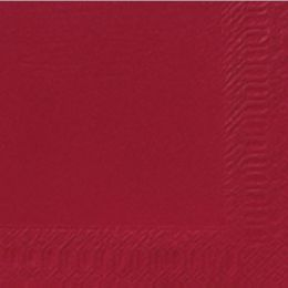 Servetten tissue 24cm 3 laags bordeaux ACTIE