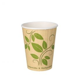 BIO Double Wall Kartonnen Koffiebekers 350ml 12oz Leaf