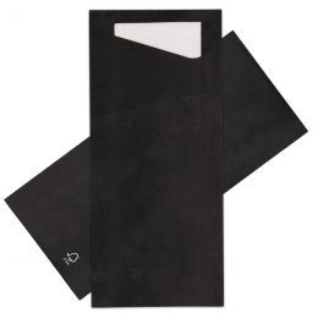 Sacchetto zwart met wit tissue serv. 2 laags