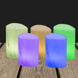 LED Candle holder 140x100mm Pebble Marble