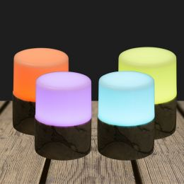 LED Candle holder 105x75mm Marble Bright