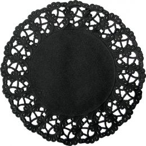 Randen geperforeerd 19cm rond zwart