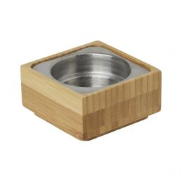 Candle Holder 50x95mm Bamboo