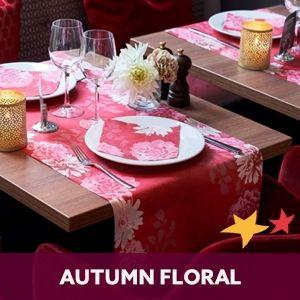 Duni tafelaankleding Autumn Floral