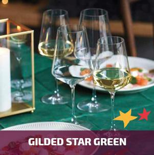 Duni Gilded Star Green