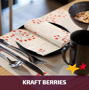 Duni tafelaankleding Kraft Berries