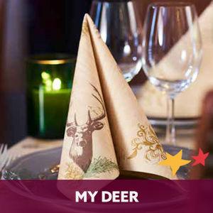Duni tafelaankleding My Deer