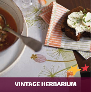 Duni tafelaankleding Vintage Herbarium