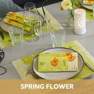 Duni tafelaankleding Spring Flower