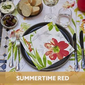Duni tafelaankleding Summertime Red