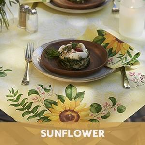 Duni tafelaankleding Sunflower