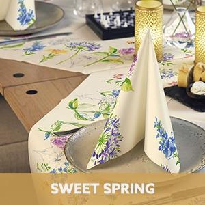 Duni tafelaankleding Sweet Spring