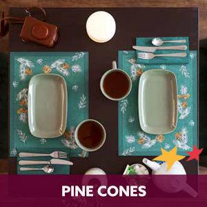 Duni tafelaankleding Pine Cones